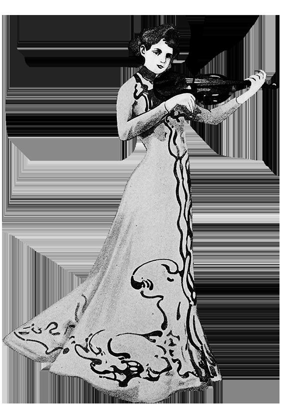 woman's concert dress 1900