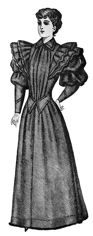 ladies Victorian home dress 1894