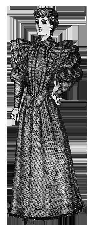 ladies Victorian home dress 1894