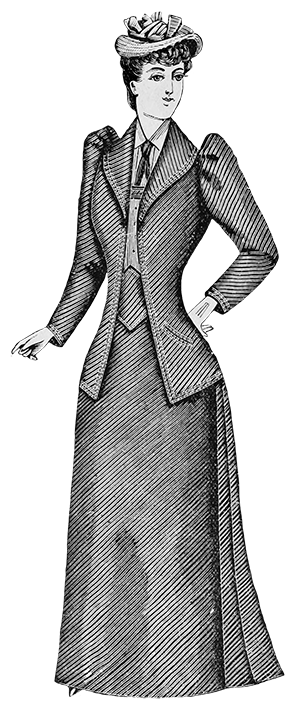 late Victorian suit for women