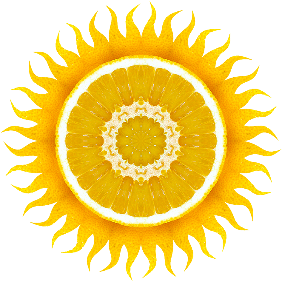 lemon sun clipart