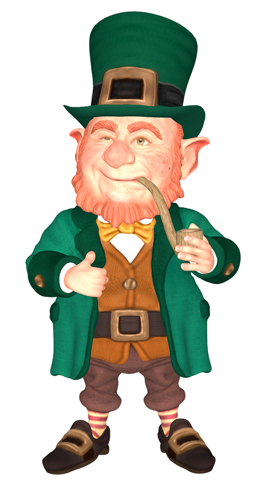 leprechaun with pipe