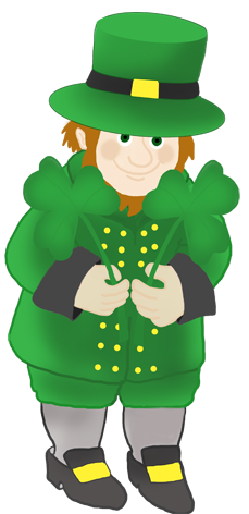 leprechaun with st. Patrick's day clover