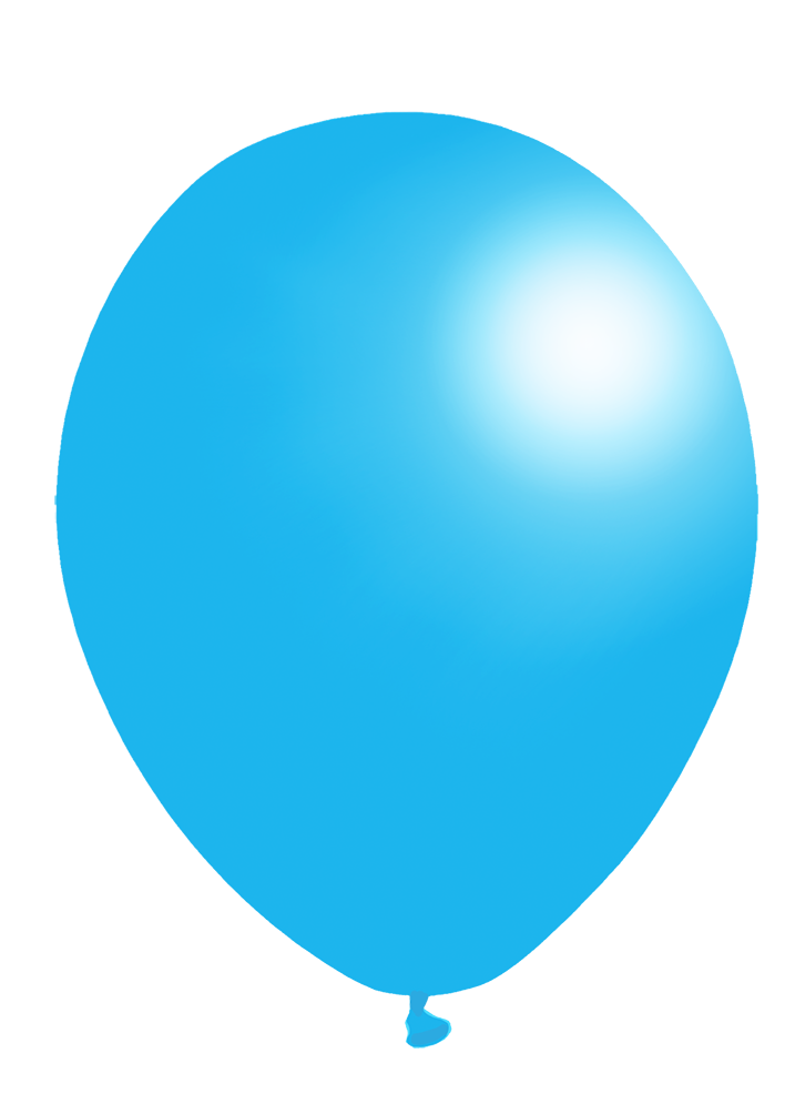light blue balloon clip art