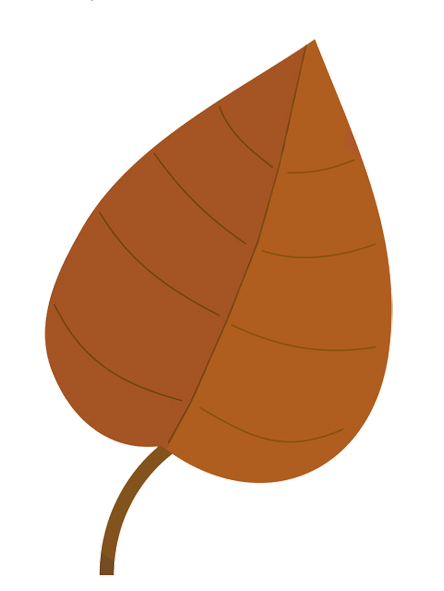 light brown fall leaf clip art