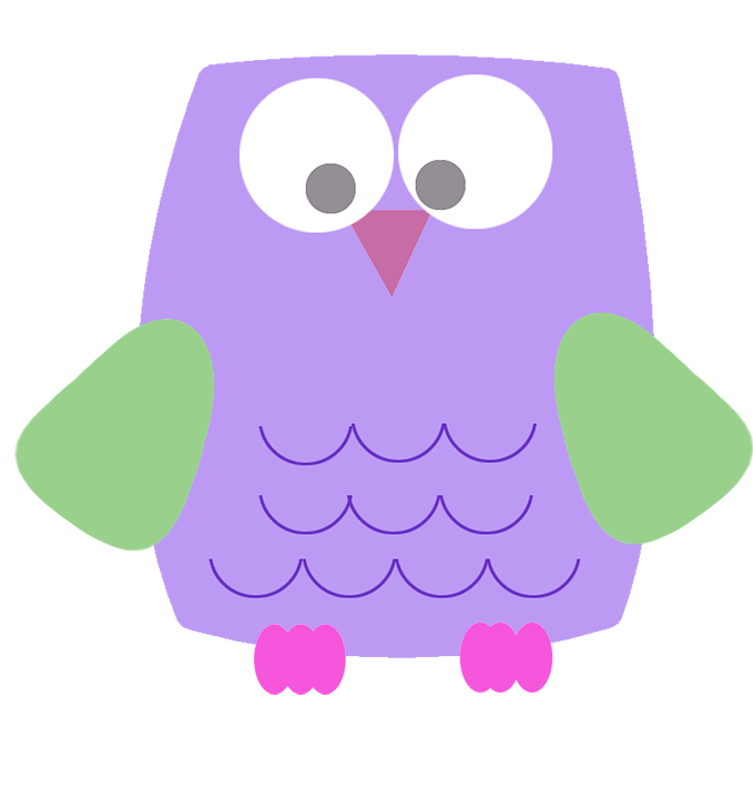 lila funny owl clipart