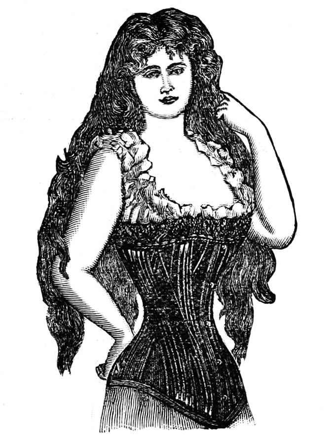woman with lingerie corset
