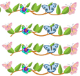 printable borders with butterflies