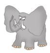 elephant clip art logo
