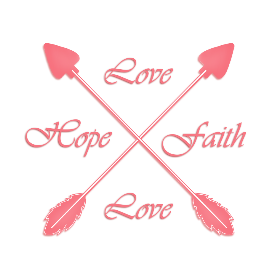 love faith hope crossed arrows
