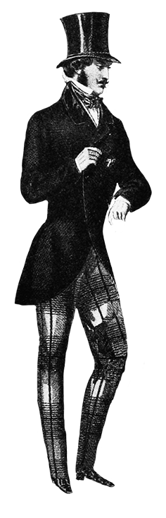 Victorian clip art man with top hat