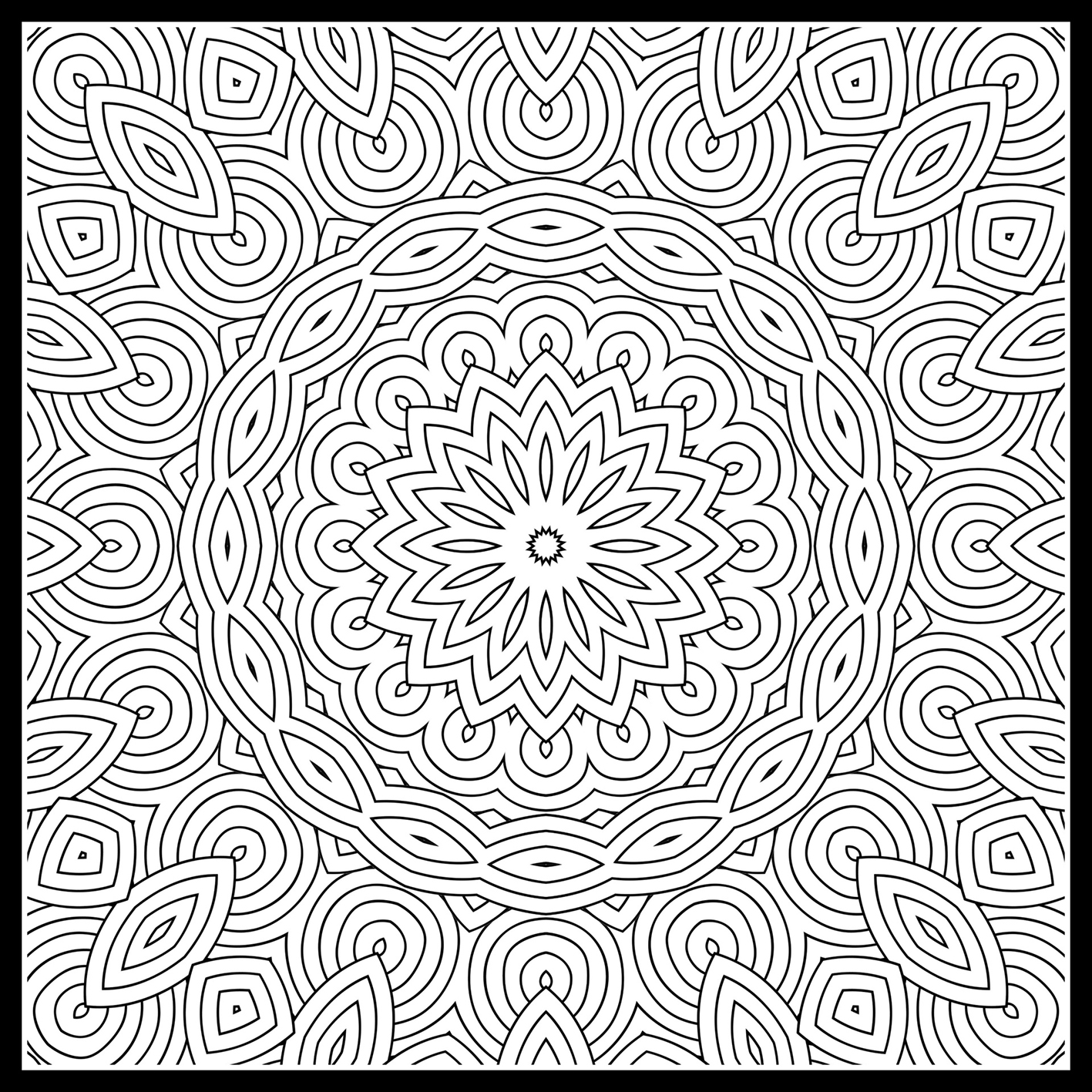 mandala for coloring pattern