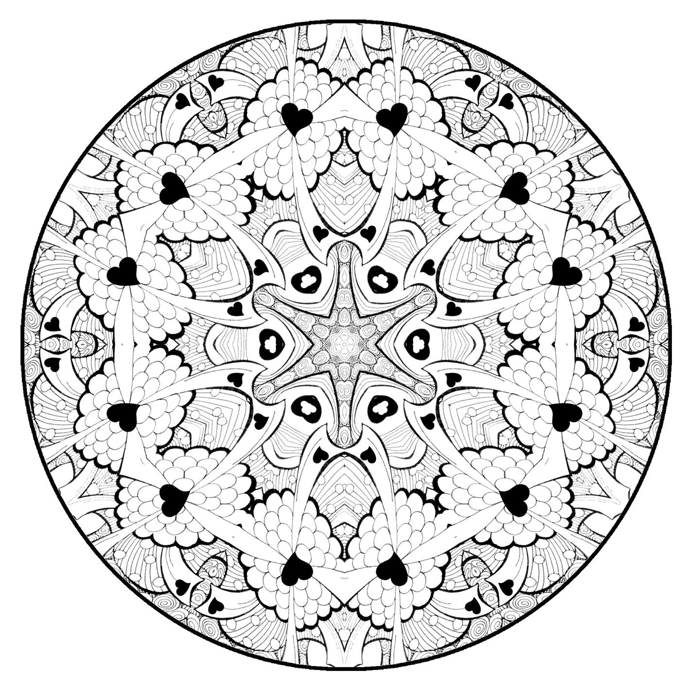 mandala coloring page cirkel