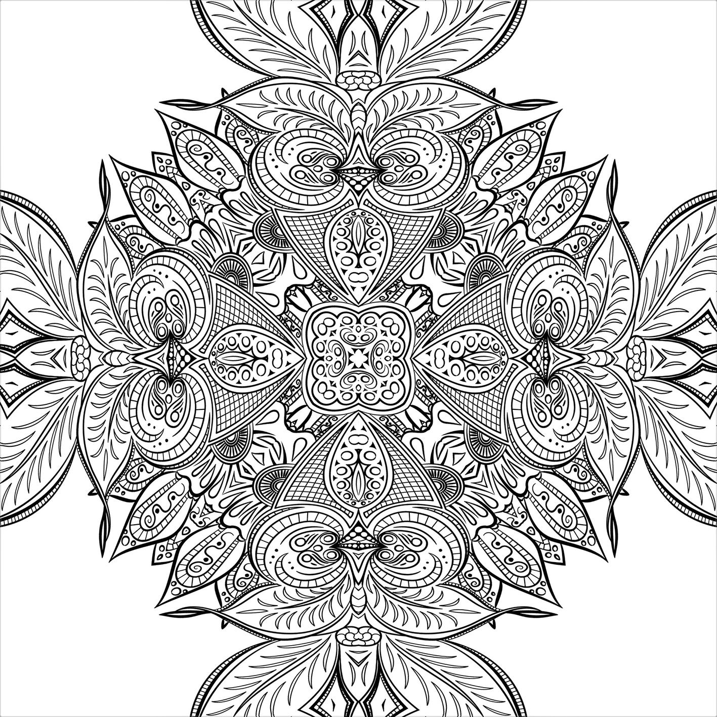 public domain mandala coloring page