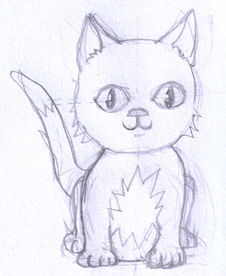 manga kitten sketch