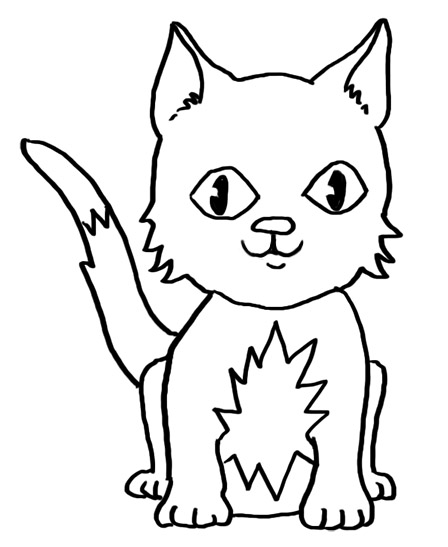 how to draw a black kitten