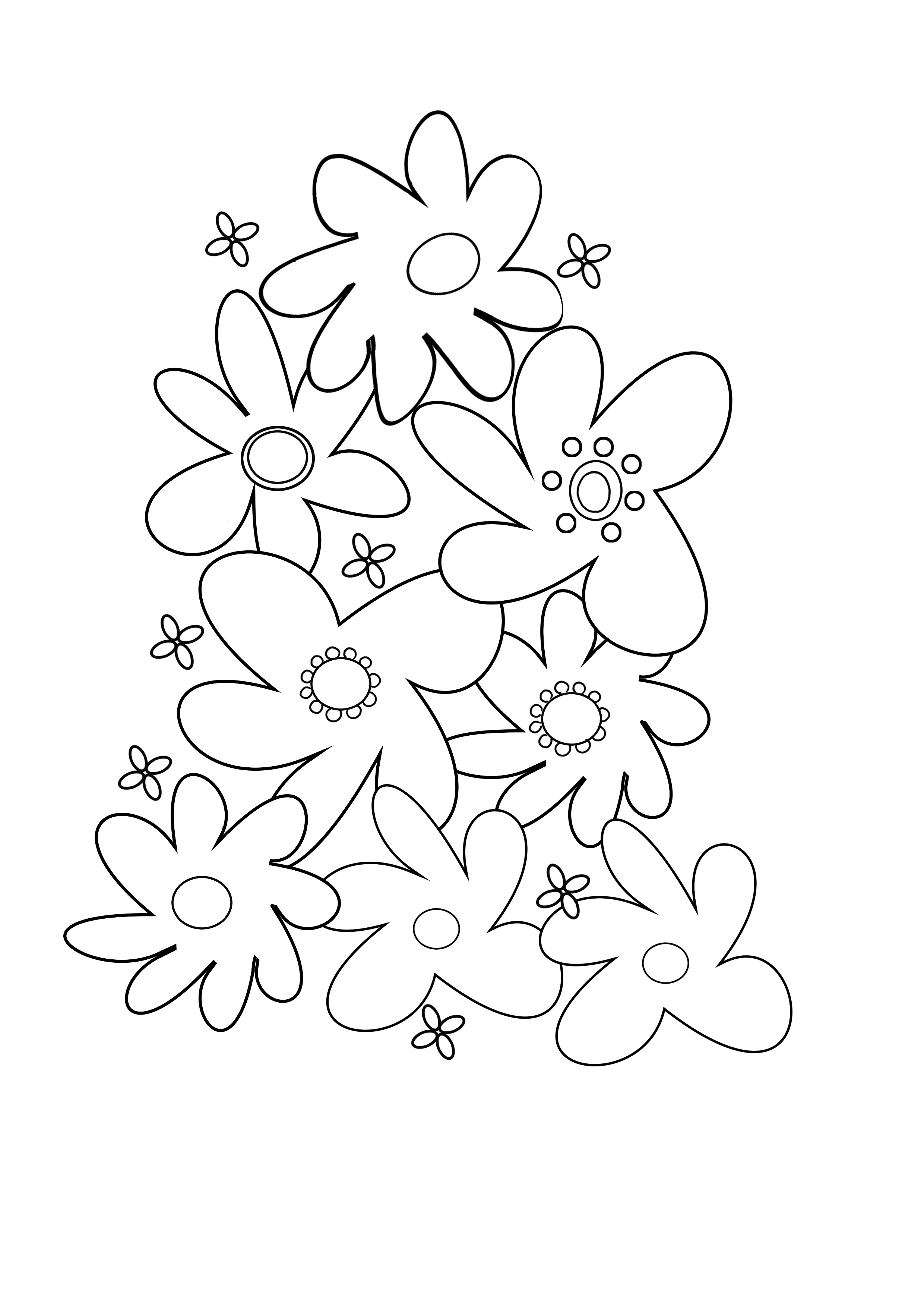 abstract flower coloring page