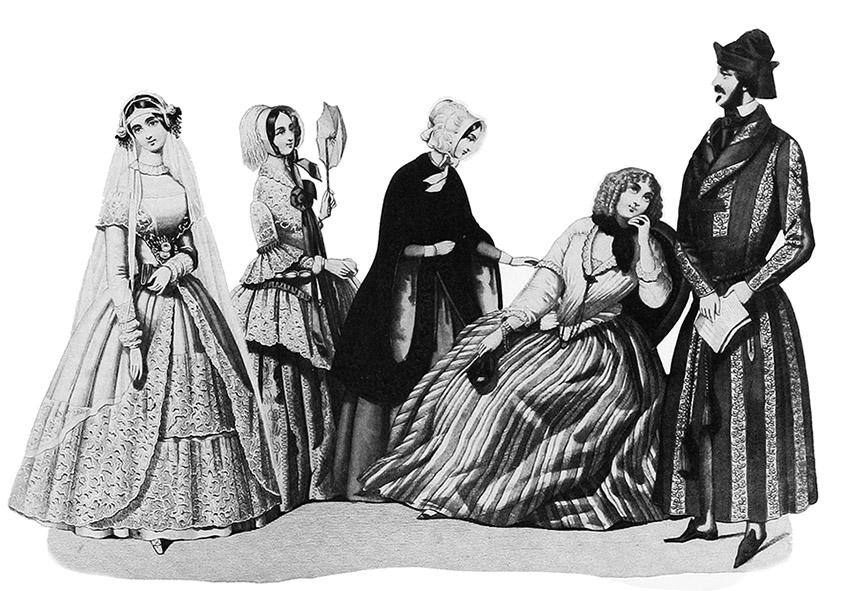1848 victorian clothes