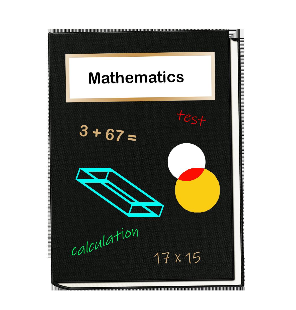 Mathematics book clipart