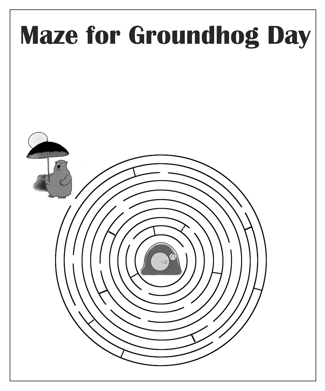 maze for Groundhog Day
