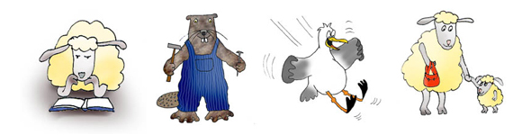 medical cartoons cartoon animals