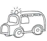 Medical clipart ambulance black white