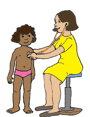 child at the doctor stethoscope