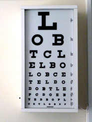 medical clip art eye test board