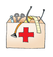 first aid kit medical clipart