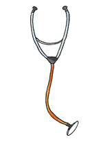 medical images stethoscope color