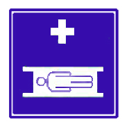Medical clipart stretcher symbol