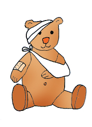 medical clip art teddy bear sick plaster