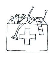 Medical images firt aid kit sketch