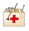 first aid kit for kids medical clipart