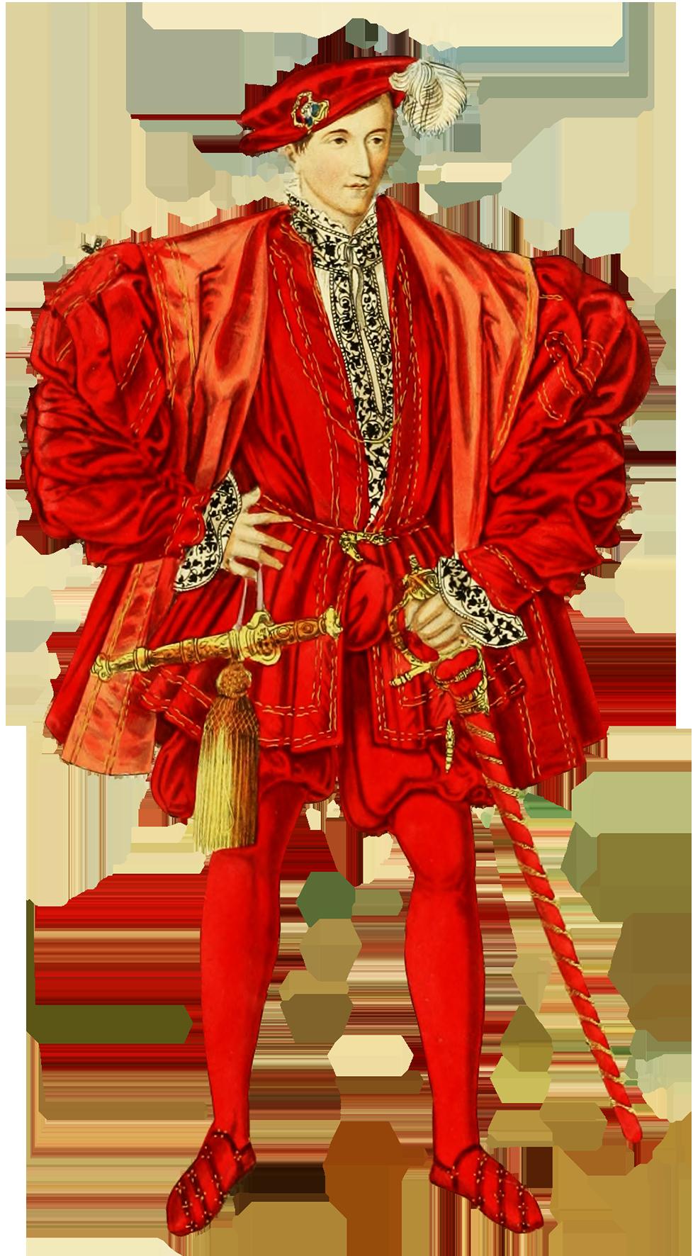 Medieval dressed gentleman