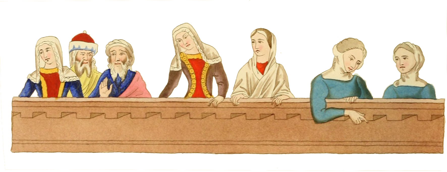 men and women Medieval ages