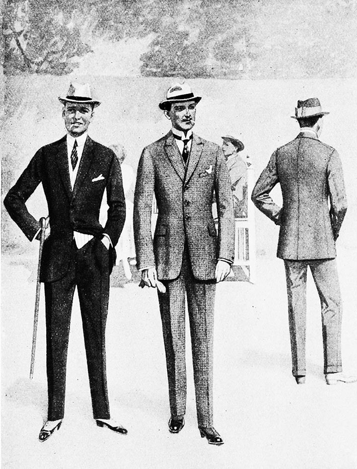 mens fashion clothing 1917