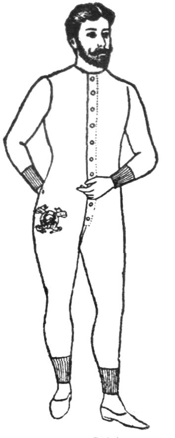 men's undershirt and drawers