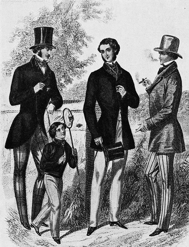 men's fashion clothes 1852 Victorian Era