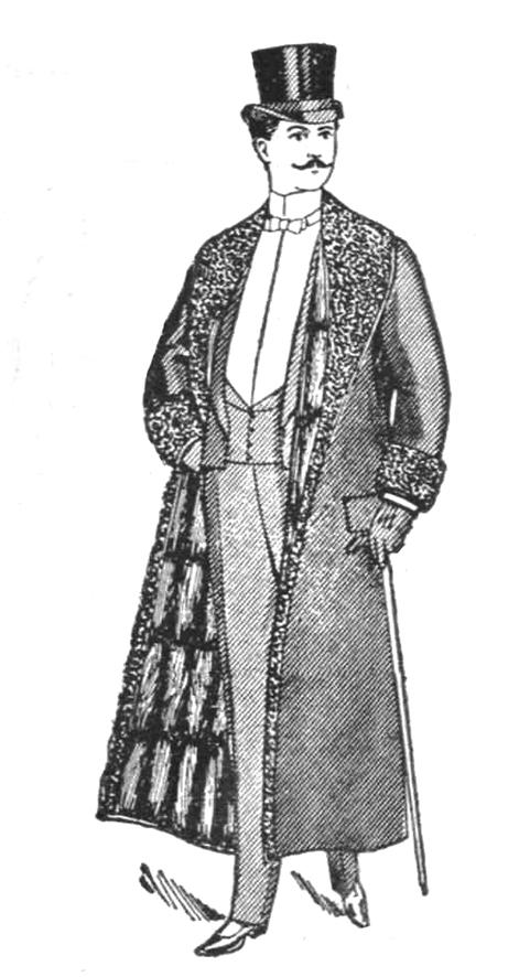 men's fur overcoat