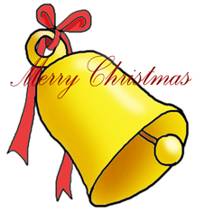 Merry Christmas clip art bell