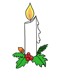 Merry Christmas lights clipart