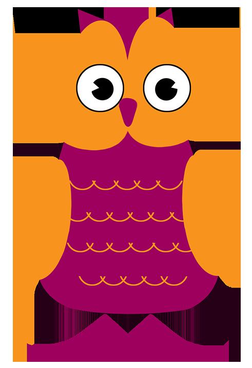 modern owl clip art