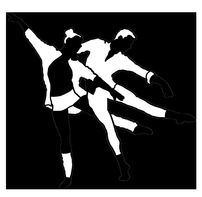 modern ballet black white silhouette