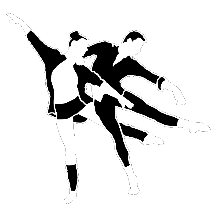 dancer silhouette for black background