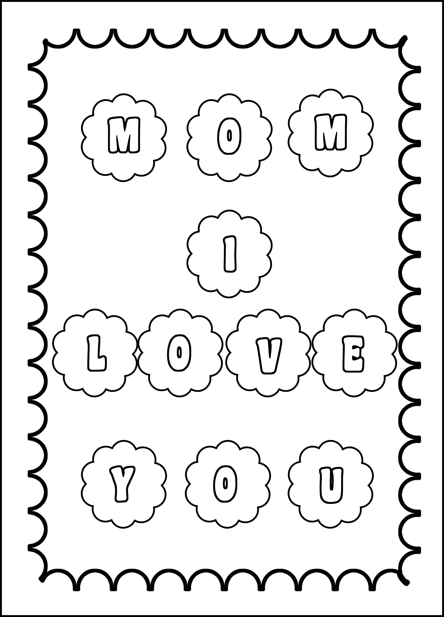 mom I love you coloring page