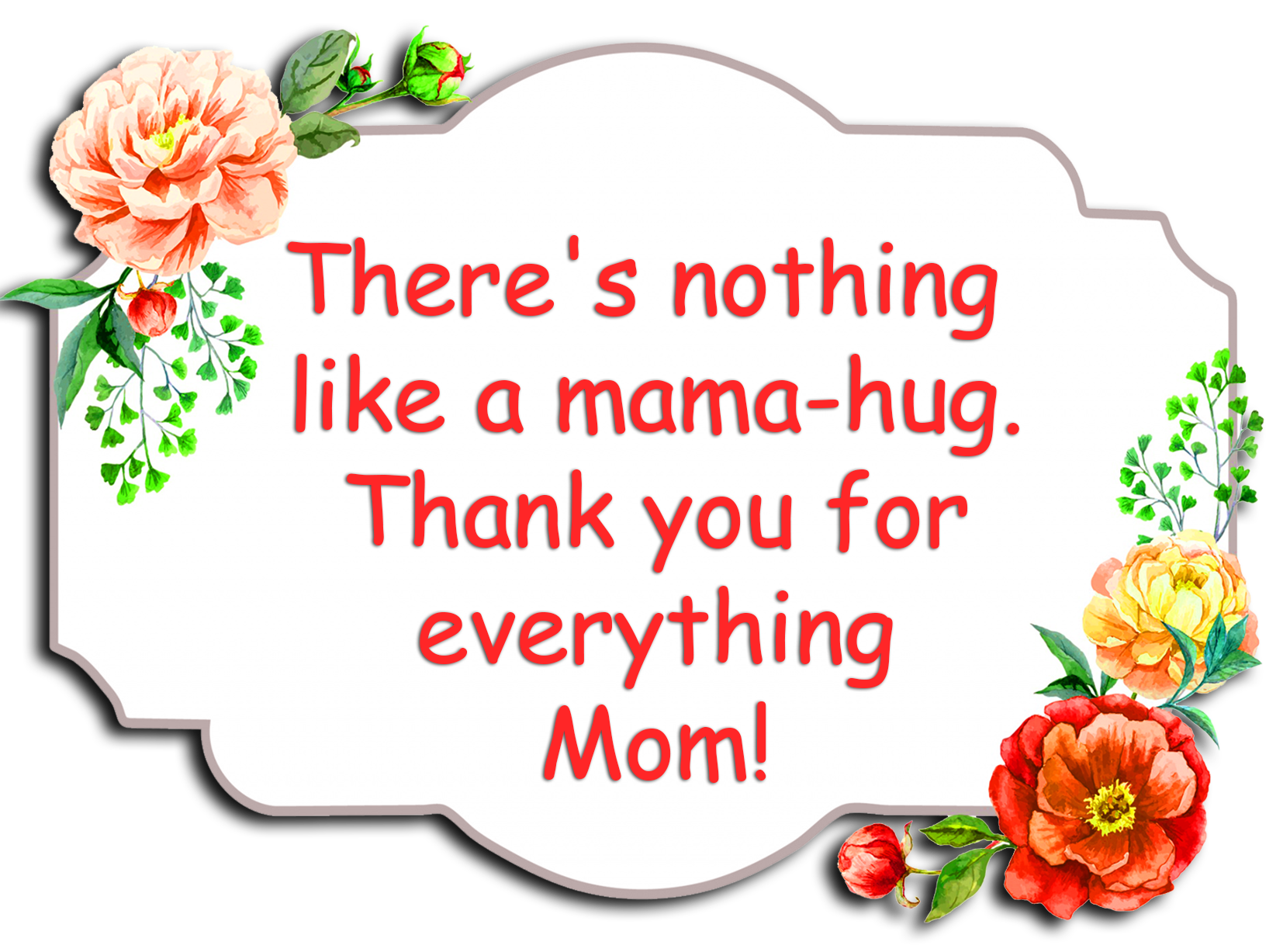 Mom's day greeting with flowers