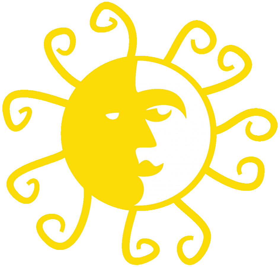 moon and sun clipart