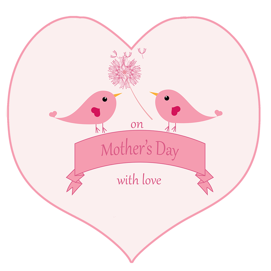mother's day greeting with birds