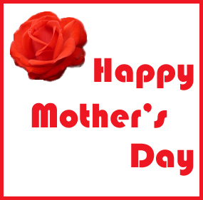 happy mothers day red rose